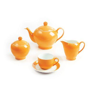 سرویس چینی 17 پارچه چای خوری نارنج سری آلگرو