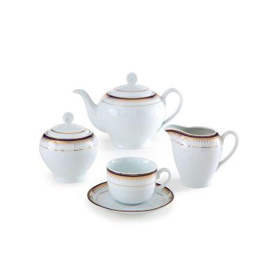 سرویس چینی 17 پارچه چای خوری خاطره سری ایتالیا اف
