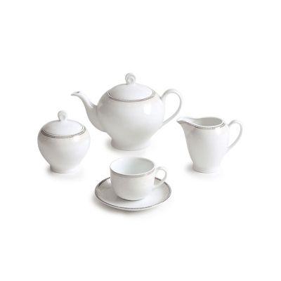سرویس چینی 17 پارچه چای خوری ریوا پلاتینی سری ایتالیا اف