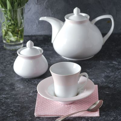 سرویس چینی 18پارچه چای خوری مریدین صورتی سری شهرزاد