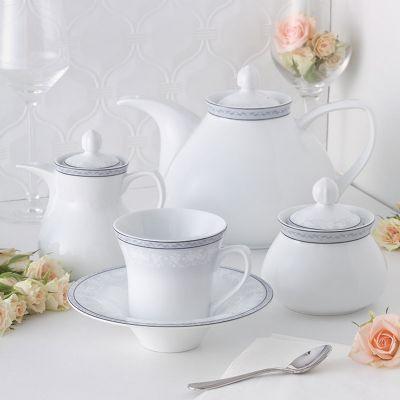 سرویس چینی 18پارچه چای خوری وایت رز سری شهرزاد